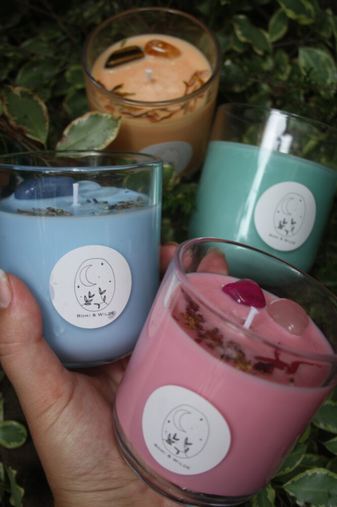 Romi and wild candle - scent will vary